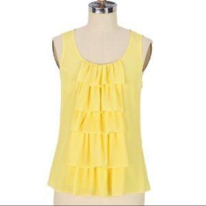Anthropologie Sine Savica Waterfall silk blouse
